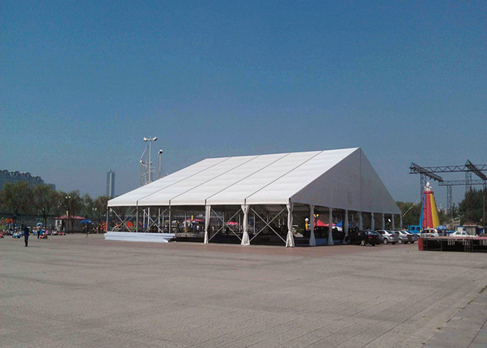 Clear Span Giant Canopy Wedding Tent White Color Double PVC Coating Fabric