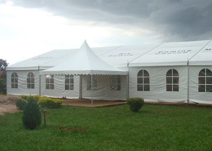 Aluminum Structure White Marquee Tent With Windows, Commercial Grade Marquee