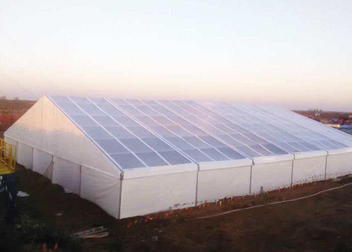 Temporary Industrial Fabric Tent Buildings Fire - Proof Steel Frame Structure