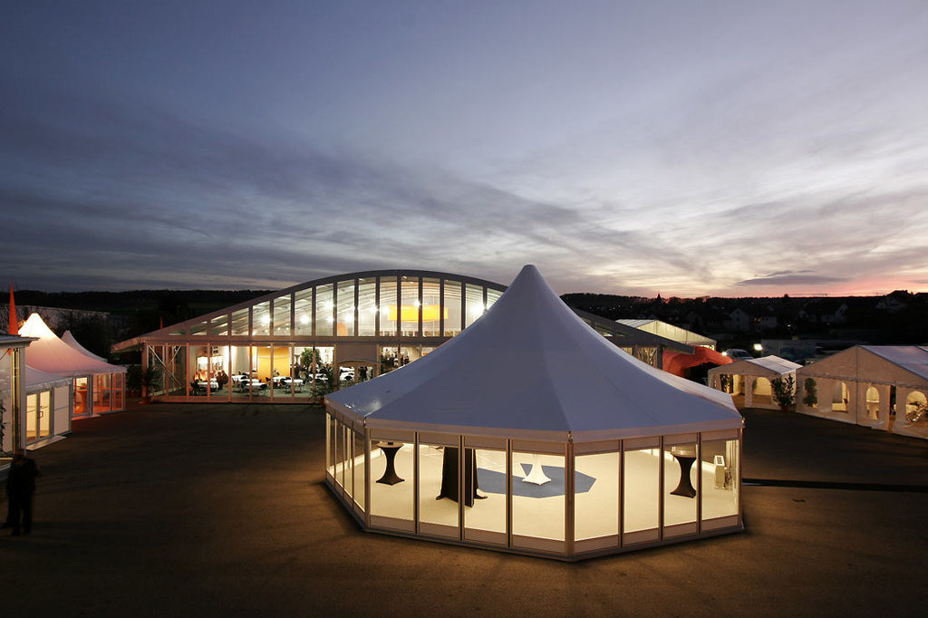 Hard Glass Walls Outdoor Event Clear Span Tent , Hexagon Canopy Party Tent