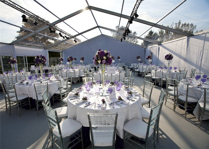 Luxury Transparent Tents Clear Roof Marquee Party Wedding Tent For 500 People